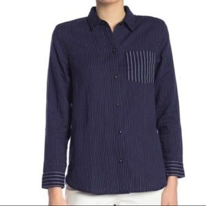 Madewell Striped Button Hi-Lo Shirt - S - NWOT